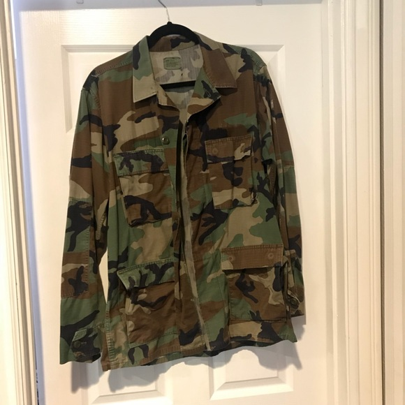 75a6956935fe6 Jackets & Coats   Woodland Camo Military Jacket   Poshmark
